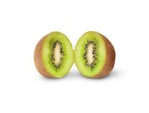 Due metà Kiwi Fruit succoso Fotografia Stock Libera da Diritti