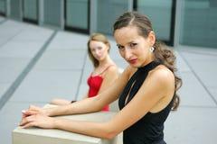 Due modelli sulla via Fotografia Stock