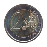 Due moneta dell'euro (EUR) Immagini Stock
