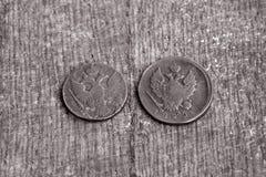 Due monete fotografia stock