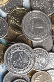 Due monete da una zloty Fotografia Stock Libera da Diritti