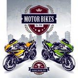 Due motociclette di sport Fotografia Stock
