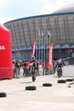 Due motociclisti sulla pista Immagine Stock