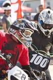 Due motociclisti sulla pista Fotografia Stock Libera da Diritti