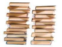 Due mucchi dei libri Immagine Stock