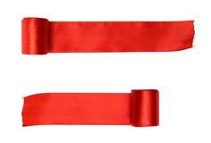 Due nastri rossi Immagini Stock Libere da Diritti