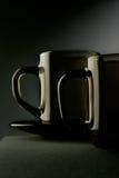 Due nature morte della tazza Fotografie Stock Libere da Diritti