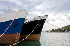 Due navi Fotografia Stock Libera da Diritti
