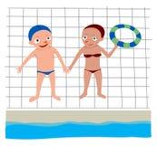 Due nuotatori Immagine Stock