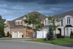 Due nuove case fotografia stock libera da diritti