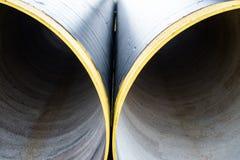 Due nuovi tubi del metallo Fine in su Immagini Stock Libere da Diritti
