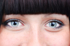 Due occhi sorridenti Fotografie Stock