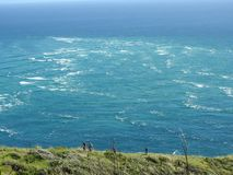 Due oceani si scontrano immagini stock libere da diritti