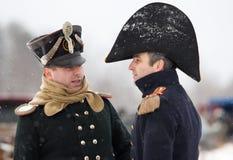 Due oficcers napoleonici Immagine Stock Libera da Diritti