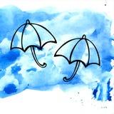 Due ombrelli Fotografia Stock Libera da Diritti