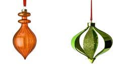 Due ornamenti d'attaccatura Immagini Stock