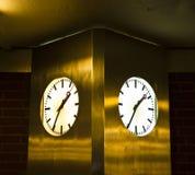 Due orologi fotografia stock