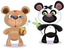 Due orsi illustrazione di stock