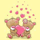 Due orsi con cuore illustrazione vettoriale