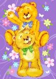 Due orsi svegli dell'orsacchiotto illustrazione vettoriale