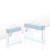 Due pacchetti di carta eleganti Fotografie Stock