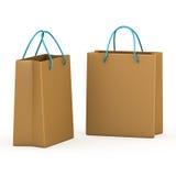 Due pacchetti rappresentazione 3d Fotografie Stock Libere da Diritti