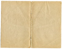 Due pagine di vecchio documento del grunge fotografia stock