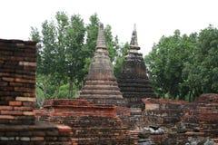 Due pagode nella vecchia città Fotografia Stock