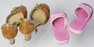 Due paii di scarpe Immagini Stock Libere da Diritti