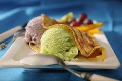 Due palette del gelato fotografia stock libera da diritti