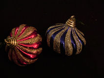 Due palle dell'albero di Natale gradiscono la fiala 3 Immagine Stock Libera da Diritti