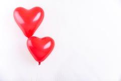 Due palloni a forma di del cuore Immagini Stock Libere da Diritti