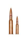Due pallottole del fucile Immagini Stock