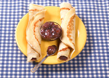Due pancake Immagini Stock