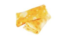 Due pancake rotolati Fotografia Stock Libera da Diritti