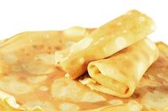 Due pancake rotolati Immagine Stock
