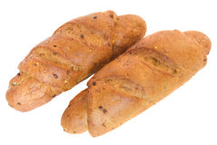 Due panini della segale con i cereali Immagini Stock