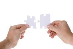 Due parti del puzzle Fotografia Stock Libera da Diritti
