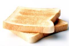 Due parti della trasparenza di pane Fotografie Stock