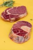 Due parti di carne grezza Fotografia Stock Libera da Diritti
