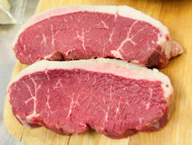 Due parti di carne grezza Immagine Stock Libera da Diritti
