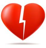 Due parti di cuore rotto Fotografia Stock