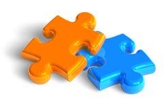 Due parti di puzzle Fotografia Stock