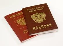 Due passaporti Fotografia Stock