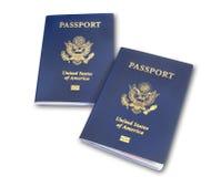 Due passaporti degli Stati Uniti, isolati Immagine Stock Libera da Diritti