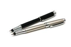 Due penne isolate Fotografia Stock Libera da Diritti
