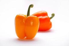 Due peperoni dolci Fotografia Stock