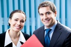 Due persone di affari Immagine Stock