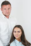 Due persone di affari felici, Fotografie Stock