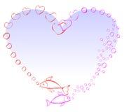 Due pesci nell'amore Immagini Stock